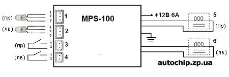 Контроллер подогрева сидений MPS-200